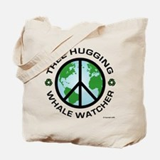 Tree Hugger, Whale Watching Tote Bag