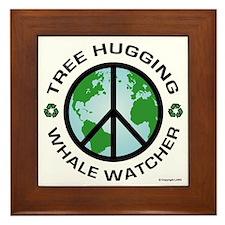 Tree Hugger, Whale Watching Framed Tile
