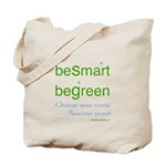 beSmart beGreen Reusable Eco Grocery Tote Bag