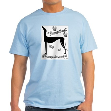 TOUCHED BY A GREYHOUND (BLACK) MENS LIGHT TEE