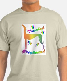 TOUCHED BY A GREYHOUND (RAINBOW) MENS LIGHT TEE