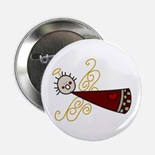 """Flying Angel 2.25"""" Button"""