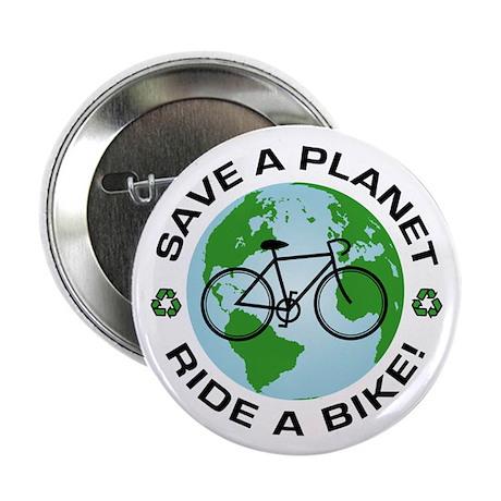"""Environmental Bike Slogan 2.25"""" Button (10 pack)"""