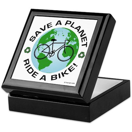 Environmental Bike Slogan Keepsake Box