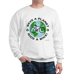 Environmental Bike Slogan Sweatshirt
