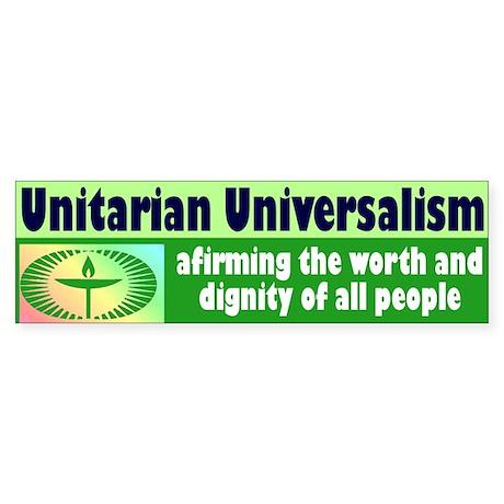 BUMPER unitarian 4 Bumper Sticker