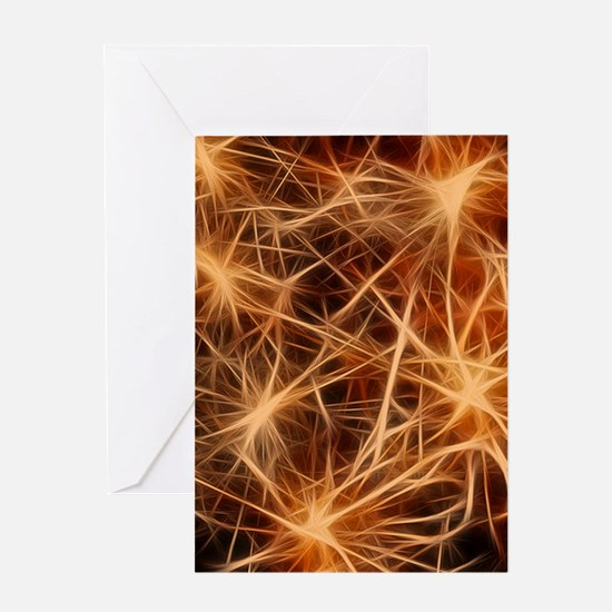 stars fractal Greeting Cards