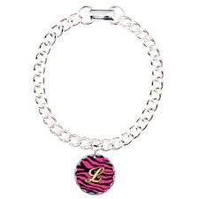 HOT PINK ZEBRA GOLD L Bracelet