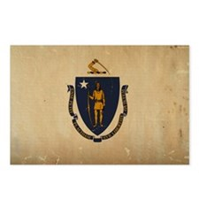 Massachusetts State Flag VINTAGE Postcards (Packag