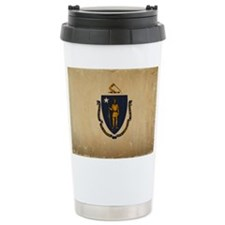 Massachusetts State Flag VINTAGE Travel Mug