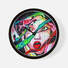 Screaming Girl Graffiti Wall Clock