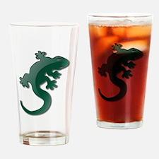 Green Lizard Drinking Glass