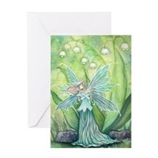 Lily of the Valley Fairy Art Greeting Cards