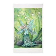 Lily of the Valley Fairy Art 3'x5' Area Rug