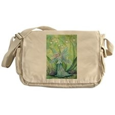 Lily of the Valley Fairy Art Messenger Bag