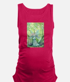 Lily of the Valley Fairy Art Maternity Tank Top