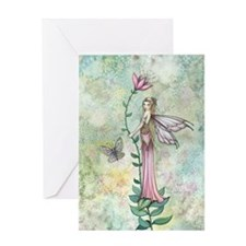 A Flower Fairys Rest Greeting Cards