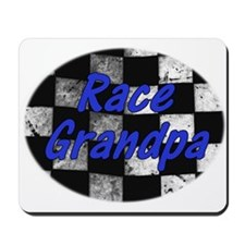 Race Grandpa checkered Flag Mousepad