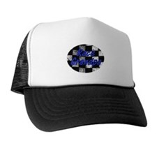 Race Grandpa checkered Flag Trucker Hat