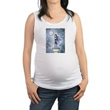 Blue Lumina Fairy Fantasy Art Maternity Tank Top