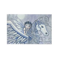Carry Me Away Fairy and Pegasus Art Magnets