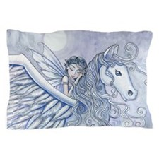 Carry Me Away Fairy and Pegasus Art Pillow Case