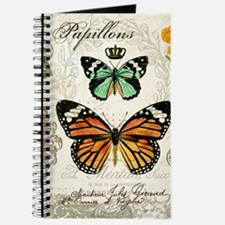 Modern Vintage Butterflies and Daffodils Journal