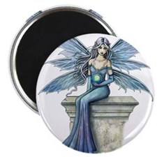 Blue Celeste Fairy Fantasy Art Magnets