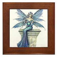 Blue Celeste Fairy Fantasy Art Framed Tile