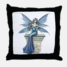 Blue Celeste Fairy Fantasy Art Throw Pillow