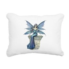 Blue Celeste Fairy Fantasy Art Rectangular Canvas