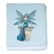 Blue Celeste Fairy Fantasy Art baby blanket
