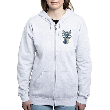 Blue Celeste Fairy Fantasy Art Zip Hoodie