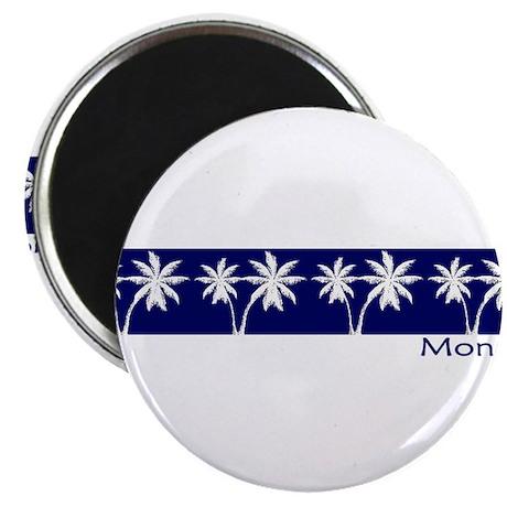 Monaco Navy Palms Magnet