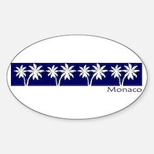 Monaco Navy Palms Oval Decal