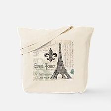 Modern Vintage Eiffel Tower Tote Bag