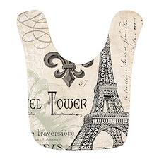 Modern Vintage Eiffel Tower Bib