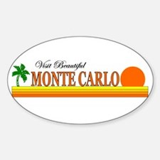 Visit Beautiful Monte Carlo Oval Decal