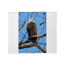 Bald Eagle on Guard Throw Blanket