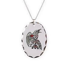 Raven Spirit Necklace Oval Charm