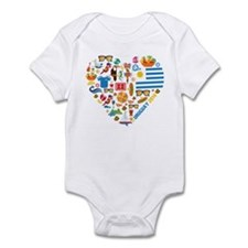 Uruguay World Cup 2014 Heart Infant Bodysuit