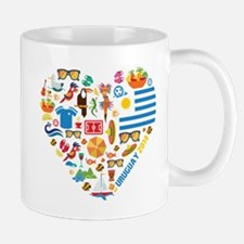 Uruguay World Cup 2014 Heart Mug