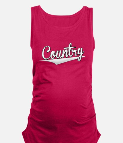 Country, Retro, Maternity Tank Top