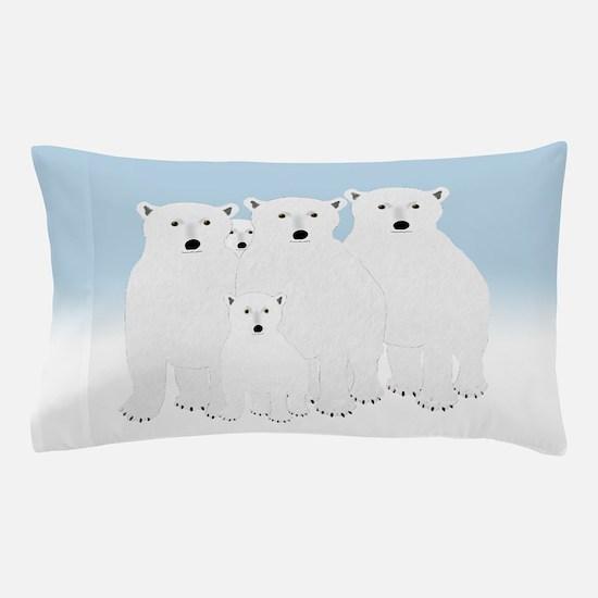 Polar Bears Pillow Case