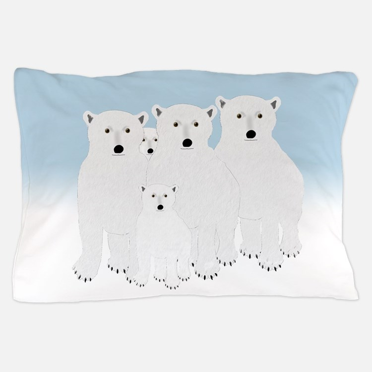 Polar Bears Pillow Case