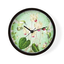 Modern Vintage French Hummingbirds Wall Clock