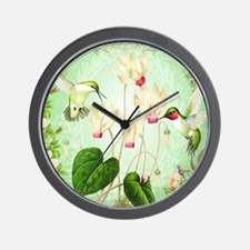 Modern Vintage French Hummingbirds Wall Clock