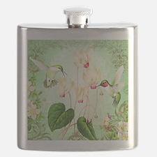 Modern Vintage French Hummingbirds Flask