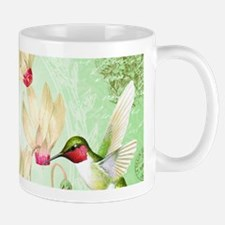 Modern Vintage French Hummingbirds Mugs