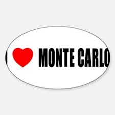 I Love Monte Carlo Oval Decal